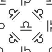 Libra pattern — Stock Vector