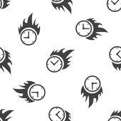 Burning clock pattern — Stock Vector