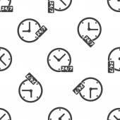 Gecede günlük workhours desen — Stok Vektör