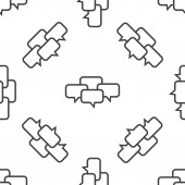 Chat conference pattern — Stockvector