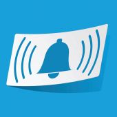 Alarm sticker — Vettoriale Stock