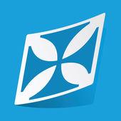 Maltese cross sticker — Stock Vector