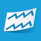 Aquarius sticker — Stok Vektör