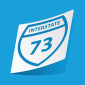 Interstate 73 sticker — Stock Vector
