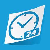 24 hours sticker — Stock Vector
