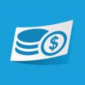美元红细胞缗钱状贴纸 — 图库矢量图片