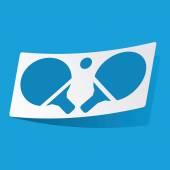 Tafeltennis sticker — Stockvector