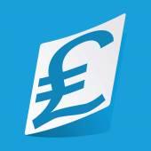 Pound sterling sticker — Stock Vector