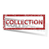 COLLECTION outlined stamp — Stock Vector
