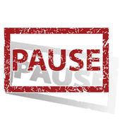 PAUSE outlined stamp — Stock Vector