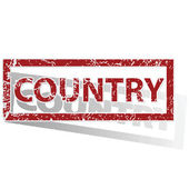 COUNTRY outlined stamp — Vector de stock