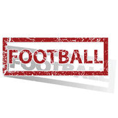 FOOTBALL outlined stamp — Stock Vector