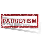 爱国主义概述的邮票 — 图库矢量图片