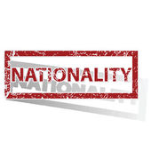 NATIONALITY outlined stamp — Stock Vector