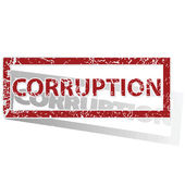 CORRUPTION outlined stamp — Stock Vector