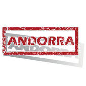 Andorra outlined stamp — Stock Vector