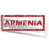 Armenia outlined stamp — Stock Vector
