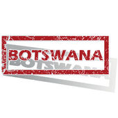 Botswana outlined stamp — Stock Vector