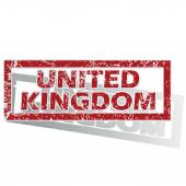 United Kingdom outlined stamp — Stock Vector