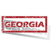 Georgia outlined stamp — Stock Vector