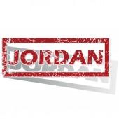 Jordan outlined stamp — Stock Vector