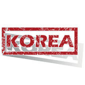 Korea outlined stamp — Stock Vector