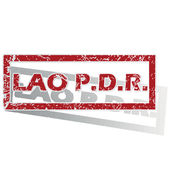 Lao PDR outlined stamp — Stock Vector