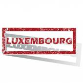 Luxembourg outlined stamp — Stock Vector
