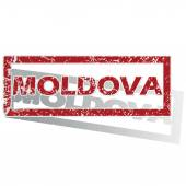 Moldova outlined stamp — Stock Vector