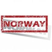 Norwegen gegliederten stempel — Stockvektor