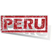 Peru outlined stamp — Stock Vector