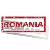 Romania outlined stamp — Stock Vector