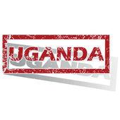 Uganda Seviyelendirilmiş damgası — Stok Vektör