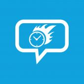 Burning clock message icon — Stock Vector