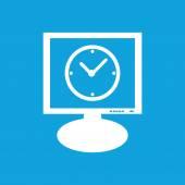 Pictogram van de monitor van de klok — Stockvector
