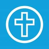 Christian cross sign icon — Stock Vector