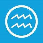 Aquarius sign icon — Stock Vector