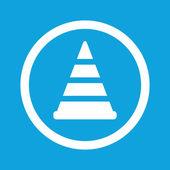 Traffic cone sign icon — Stock Vector