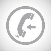 Grey incoming call sign icon — 图库矢量图片