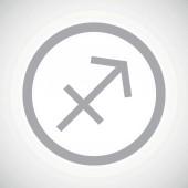 Grey sagittarius sign icon — Stock Vector