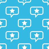 Star message pattern — Stock Vector
