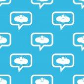 Cloud upload message pattern — Stock Vector