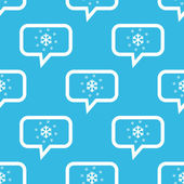 Snow message pattern — Stock Vector