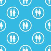 男人和女人的符号模式 — 图库矢量图片