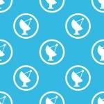 Satellite dish sign blue pattern — Stock Vector #76606257