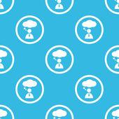 Thinking person sign blue pattern — Vetor de Stock