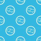 Chat sign blue pattern — Vetor de Stock