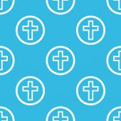 Cross sign blue pattern — Stock vektor