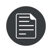 Monochrome round document icon — Stock vektor