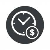 Round time is money icon — Stock Vector